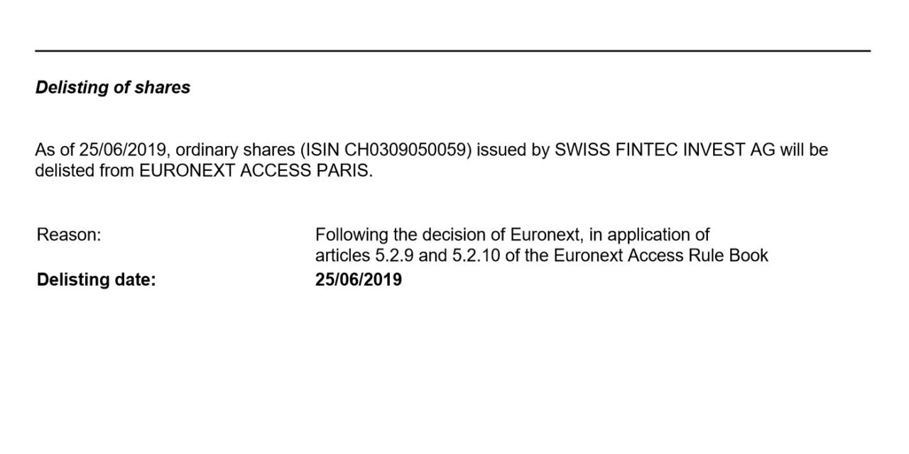 Delisting der Swiss Fintec Invest AG: Verlieren Cengiz Ehliz und Ewald Schmutz vollkommen den Überblick?